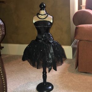 Black bodice and dress decor
